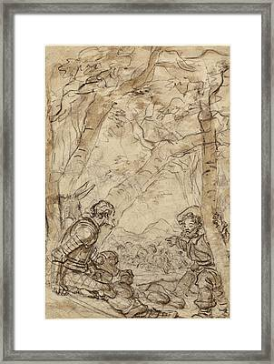 Jean-honoré Fragonard, Don Quixote And Sancho Panza Framed Print by Litz Collection
