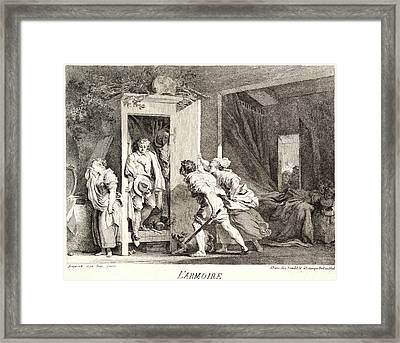 Jean-honoré Fragonard French, 1732 - 1806. The Cupboard Framed Print by Litz Collection