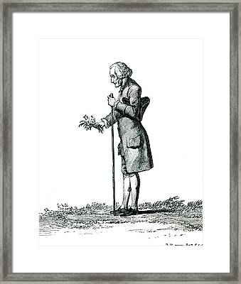 Jean-jacques Rousseau Framed Print by Collection Abecasis