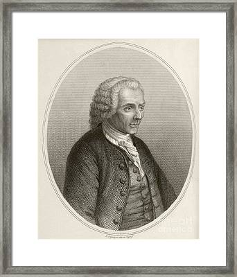 Jean Jacques Rousseau, French Philosopher Framed Print