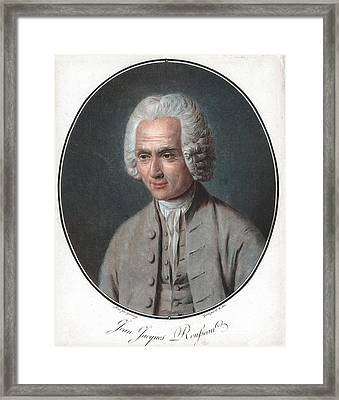 Jean-jacques Rousseau Framed Print by Universal History Archive/uig