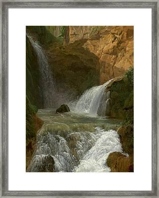 Jean-joseph-xavier Bidauld, View Of The Waterfalls At Tivoli Framed Print