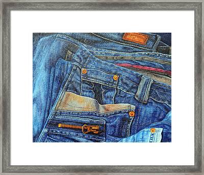 Jean Junkie Framed Print