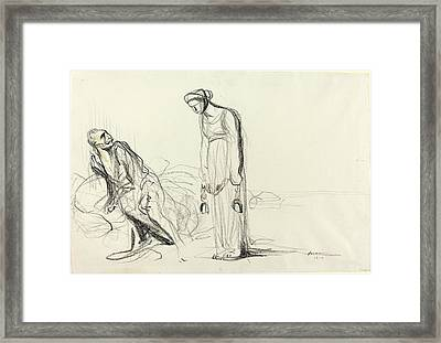Jean-louis Forain, Fetters, French, 1852-1931 Framed Print by Litz Collection