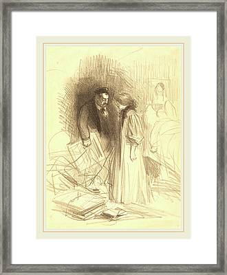 Jean-louis Forain French, 1852-1931 Framed Print by Litz Collection