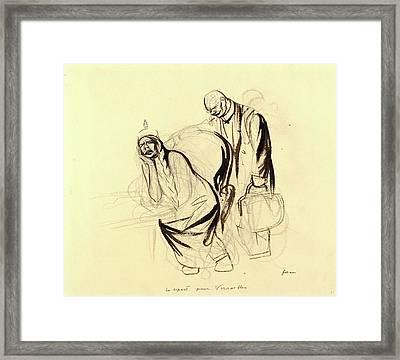 Jean-louis Forain, Le Depart Pour Versailles Framed Print by Litz Collection