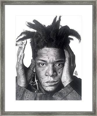 Jean-michel Basquiat Drawing Framed Print