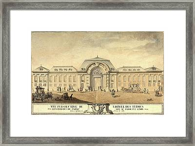 Jean-michel Moreau, French 1741-1814, View Of The Hôtel Framed Print by Litz Collection