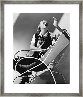 Jean Muir Sitting On A Chair Framed Print by Edward Steichen 1bf3baf84