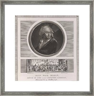 Jean Paul Marat Framed Print by British Library