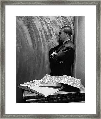 Jean-paul Sartre By Books Framed Print