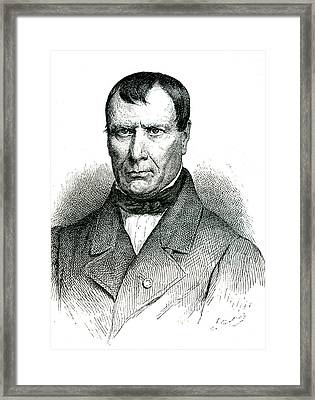Jean Pierre Flourens Framed Print by Collection Abecasis