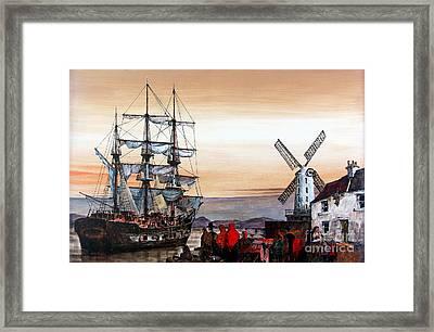 Jeanie Johnston Famine Ship Framed Print by Val Byrne