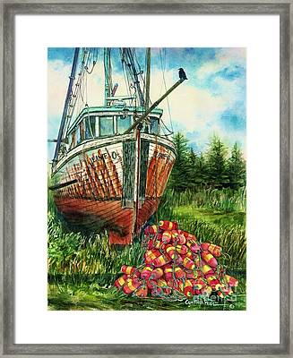 Jeanie O And The Crow Framed Print