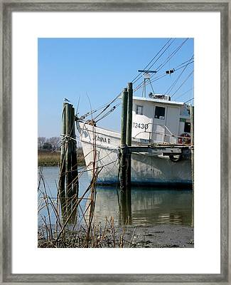 Framed Print featuring the painting Jeanna B by Lyn Calahorrano