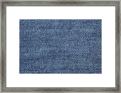 Jeans Texture Framed Print by Andrew Dernie