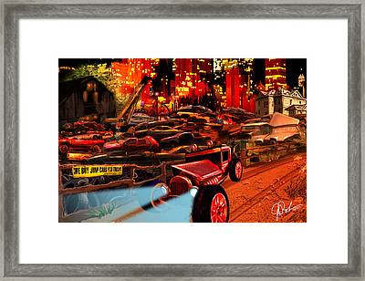 Jed Cooper Junk Yard Framed Print by Gerry Robins