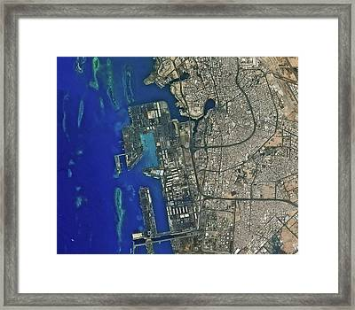 Jeddah Seaport Framed Print by Kari/european Space Agency