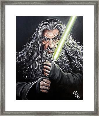 Jedi Master Gandalf Framed Print
