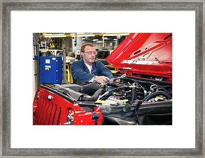 Jeep Assembly Line Framed Print by Jim West