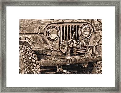 Jeep Cj Function Over Form Framed Print
