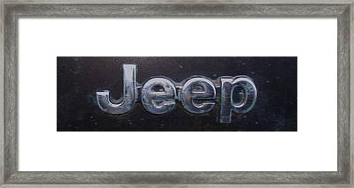 Framed Print featuring the photograph Jeep by J L Zarek