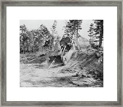 Jeep Pulling A 37mm Anti-tank Gun Framed Print by Stocktrek Images