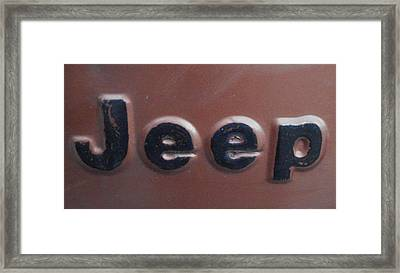 Framed Print featuring the photograph Jeep Two by J L Zarek