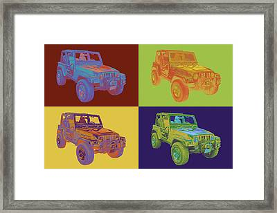 Jeep Wrangler Rubicon Pop Art Framed Print