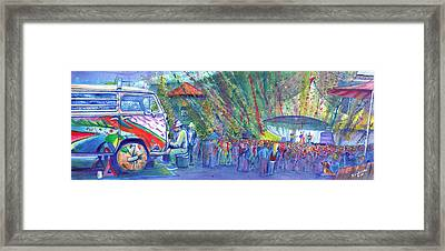 Jeff Austin Band And Bukaty In Keystone Framed Print by David Sockrider