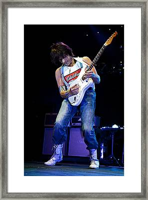 Jeff Beck On Guitar 1 Framed Print by Jennifer Rondinelli Reilly - Fine Art Photography