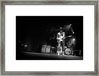 Jeff Beck On Guitar 5 Framed Print by Jennifer Rondinelli Reilly - Fine Art Photography