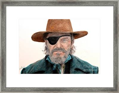 Jeff Bridges As U.s. Marshal Rooster Cogburn In True Grit  Framed Print by Jim Fitzpatrick