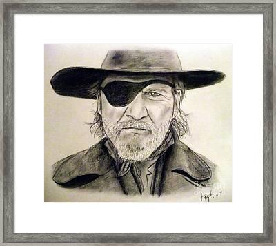 Jeff Bridges As U.s. Marshal Rooster Cogburn Framed Print by Jim Fitzpatrick