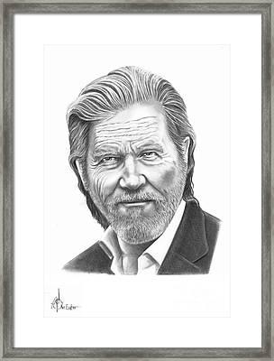 Jeff Bridges Framed Print by Murphy Elliott