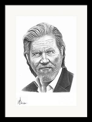 Jeff Pencil Drawings Drawings Framed Prints