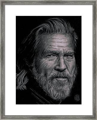 Jeff Bridges Framed Print by Ryan Jacobson