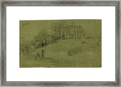 Jeff Davis House. Genl. Ords Headquarters Framed Print by Quint Lox