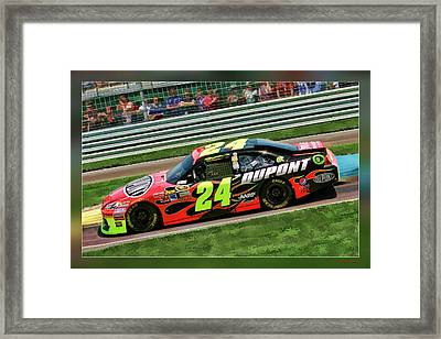 Jeff Gordon Framed Print