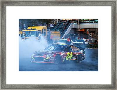 Jeff Gordon Framed Print by James Marvin Phelps