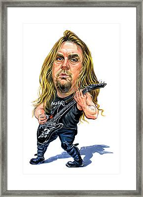 Jeff Hanneman Framed Print by Art