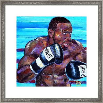 Framed Print featuring the painting Jeff Lacy by Robert Phelps