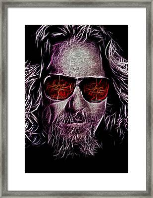 Jeff Lebowski - The Dude Framed Print by Bill Cannon
