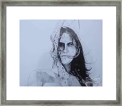 Framed Print featuring the drawing Jeff by Stuart Engel