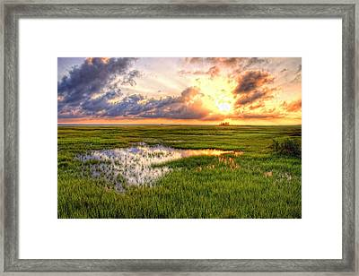 Jeffers Sunset Reflection Framed Print