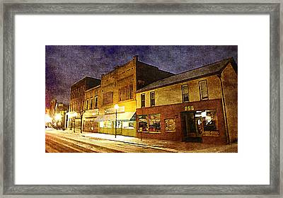 Jefferson Avenue On A Cold Winters Night Framed Print