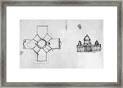 Jefferson: Capitol, 1792 Framed Print