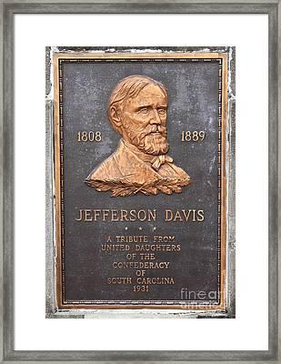 Jefferson Davis 1808-1889 Framed Print by Reid Callaway