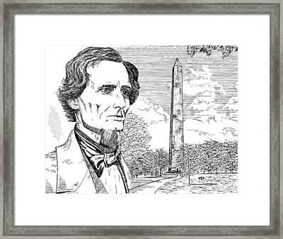 Jefferson Davis Monument Framed Print by Robert Powell
