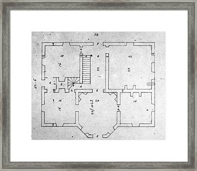 Jefferson: Floor Plan Framed Print